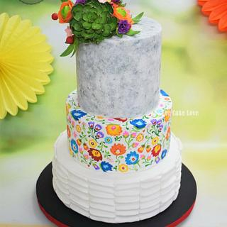 Mexican fiesta wedding cake  - Cake by The Cake Love by Hiral Desai
