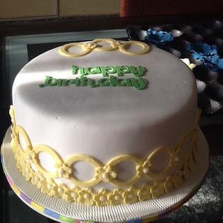Birthday cake for Christian Fellowship Meeting