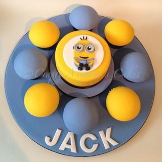 Mini Minion & Cuppy's  - Cake by CraftyMummysCakes (Tracy-Anne)