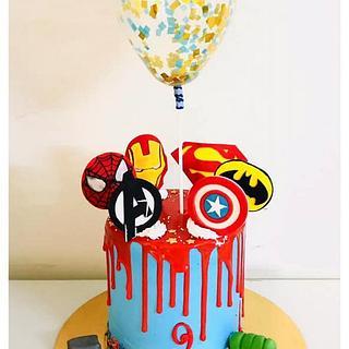 Whipped Cream Avengers theme Cake