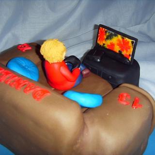 PS3 Fan 13th Birthday Cake - Cake by Christine
