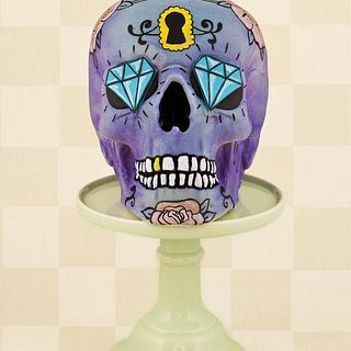 Solid Chocolate Purple Skull