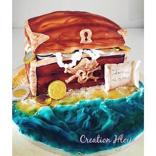 cake treasure chest pirate