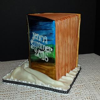 Book cake, 3D standing