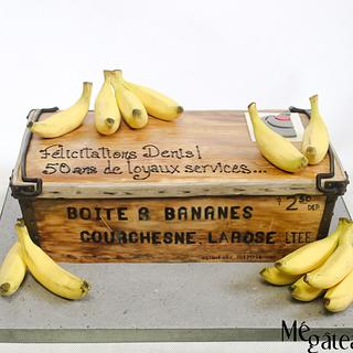 antique banana wood box