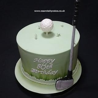 Golfer - Cake by Essentially Cakes
