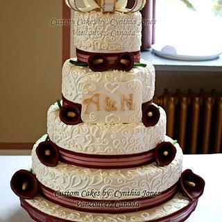 My first weddings cake!