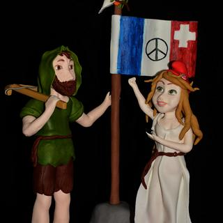 Cakes Against Violence Collaboration -  Guillaume Tell & Marianne united for peace