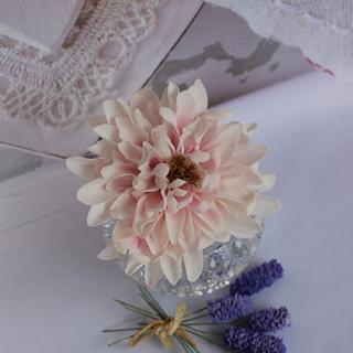Dahlia and Lavender- sugarflowers