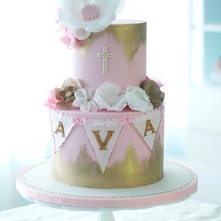 Glam Baptism Cake  - Cake by Make Fabulous Cakes