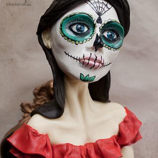 Flamenco Day of the Dead Sculpture