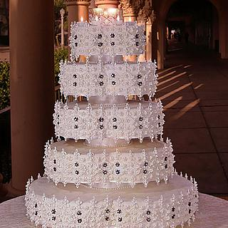 Dazzling Piece de Resistance; Lavish in Lace - Cake by The Beverley Way Collection, Beverley Way Designs USA