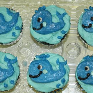 Whale cupcakes Buttercream