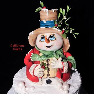 Mr Snowman - Cake by Calli Creations