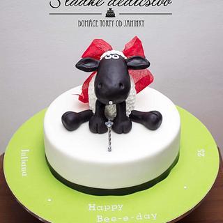 Happy Bee - e - day cake - Cake by Jana