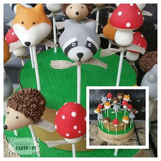 Woodland critters cake pops and cookies