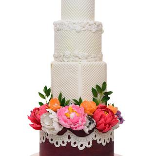 The wedding cake - Cake by Seema Bagaria