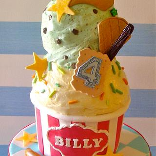 Ice cream cake for Billy