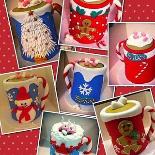 Christmas Fruit Cake Hot Chocolate Mugs