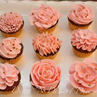 Pink Buttercream Cupcakes