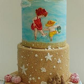 A Beach day(Sweet Summer Collaboration Cake)