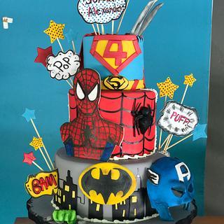 Súper heroes cake !!