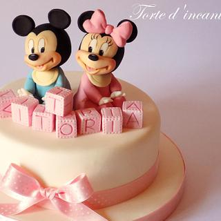 Baby Minnie and Michey Mouse