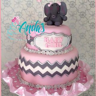 Pink & Gray Chevron and Elephants Baby Shower!