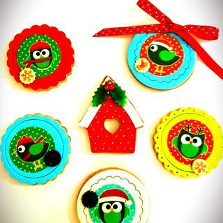Christmas  owls - Cake by DI ART