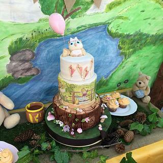 My baby girls 1st Birthday Cake- Winnie The Pooh