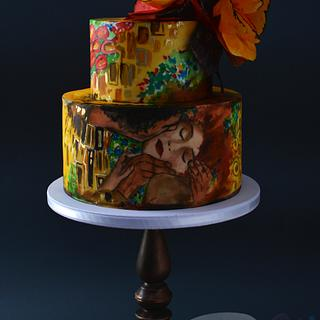 Klimt's ''The Kiss'' Cake