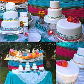 Fiesta Wedding Cake Table