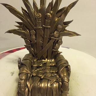Game of thrones-throne - Cake by Danielle Crawford