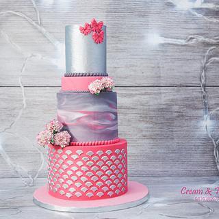 The beauty of carnations - Cake by Joyeeta lahiri