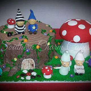 Gnomes - Cake by Michelle - Southern Charm Cakes