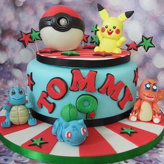 Pokemon cake. - Cake by Karen's Cakes And Bakes.