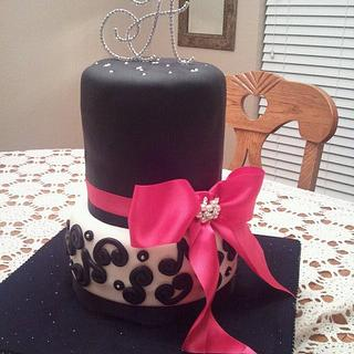 2 Tier Engagement Cake - Cake by Tammy