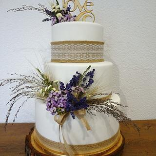 natural style wedding cake