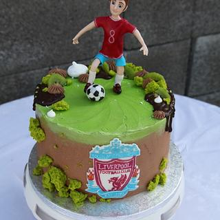 Football club Liverpool - Cake by Teriely