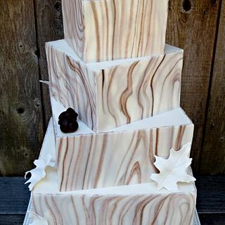Sophisticated Rustic - Cake by Shani's Sweet Creations
