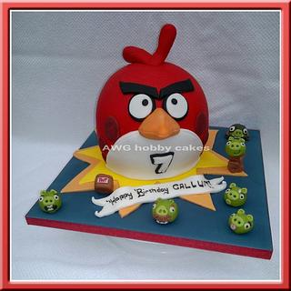 Angry bird for Callum - Cake by AWG Hobby Cakes
