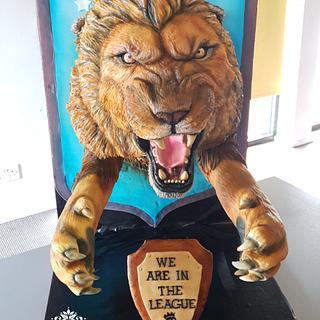 Aston Villa 3D lion Cake AVFC