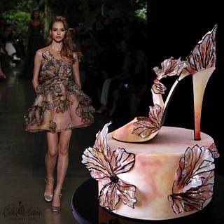 Elie Saab inspired sugar stiletto