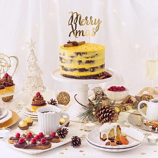 Sweet Table Merry Christmas - Mericakes Cake designer