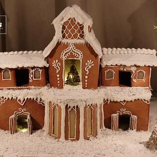 Gingerbread cookie house  - Cake by Saniya Khan Sarguru