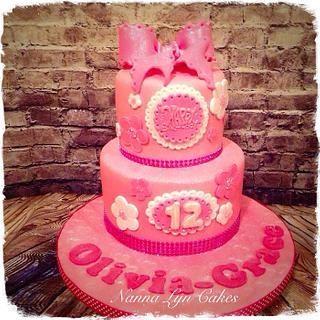Girly glittery cake! - Cake by Nanna Lyn Cakes
