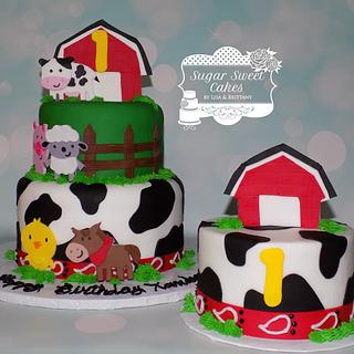 Barnyard Cake & Brownies - Cake by Sugar Sweet Cakes