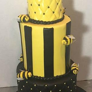 Bumble Bee Bridal Shower Cake