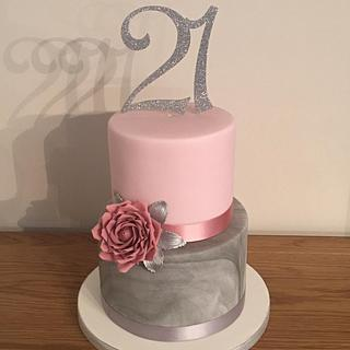 21st birthday cake - Cake by Mulberry Cake Design