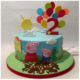 Peppa & George  - Cake by Jackie's Cakery